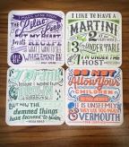 Drinking Wisdom Coaster Set, with quotes from Frida Kahlo, Nina Simone, Dorothy Parker, and Fran Lebowitz! | Bitch Media