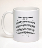 Back of the Anna Julia Cooper coffee mug | Bitch Media