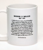 Back of the Madam C.J. Walker coffee mug | Bitch Media