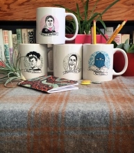 Get all four Adventures in Feministory mugs for 25% off! | Bitch Media