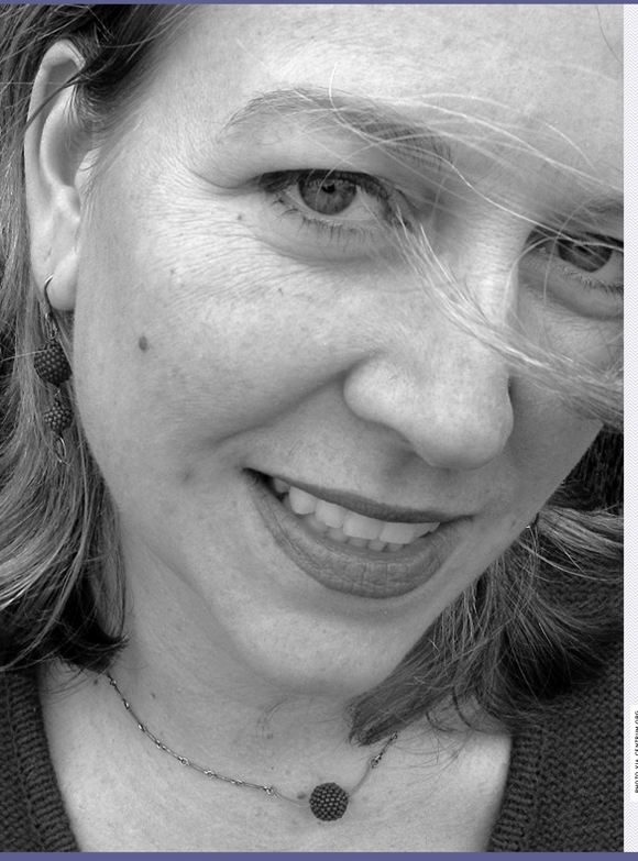 close up black and white photo of Cheryl Strayed