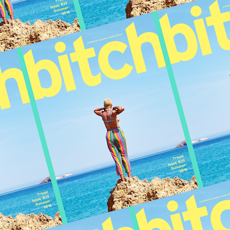 The cover of the travel issue of Bitch magazine