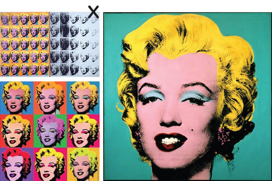 Warhol's Marylins.
