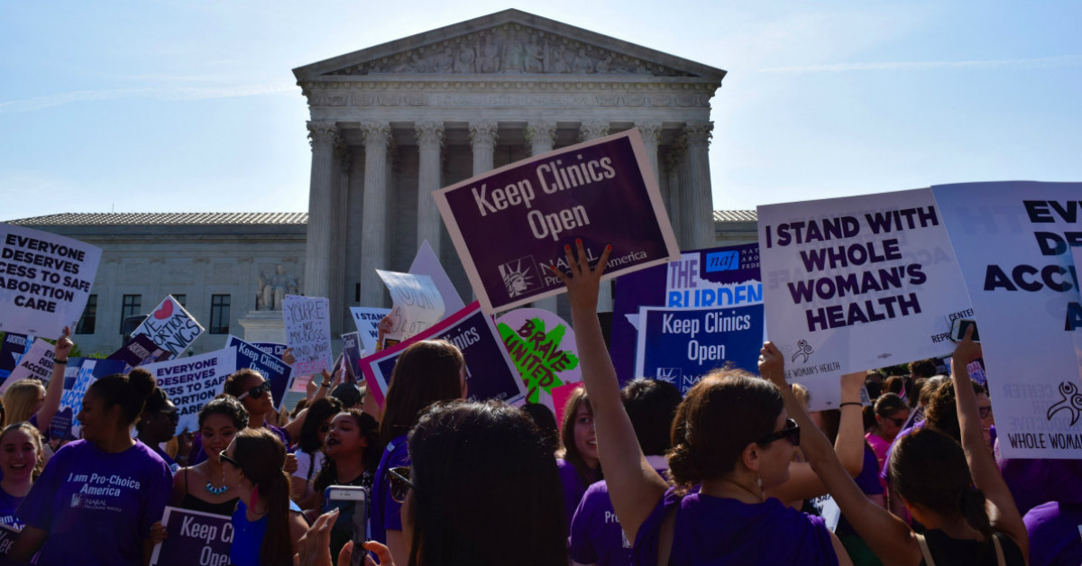 Pro-choice Demonstration about Whole Woman's Health v. Hellerstedt in front of SCOTUS