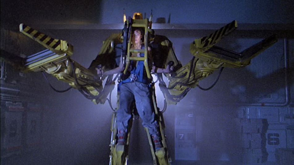 Alien's Ellen Ripley inside the Power Loader