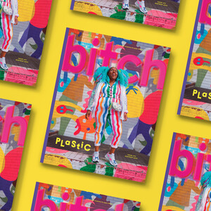 A cascading repeat of the Plastic issue of Bitch magazine