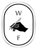 Fellowships For Writers logo illustration of a hand holding a pen