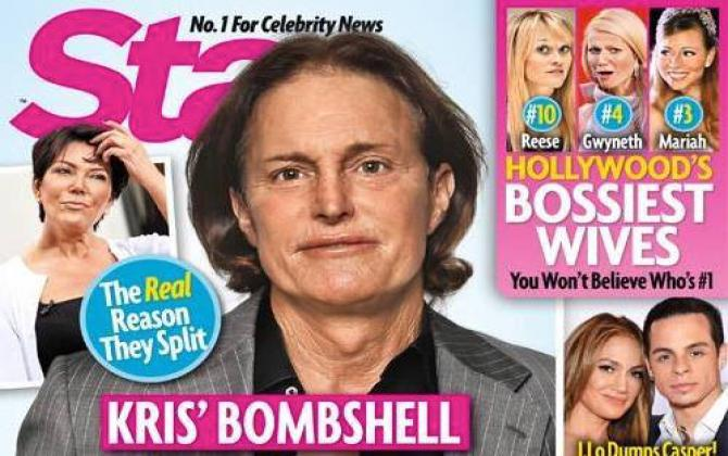 bruce jenner on the cover of a tabloid