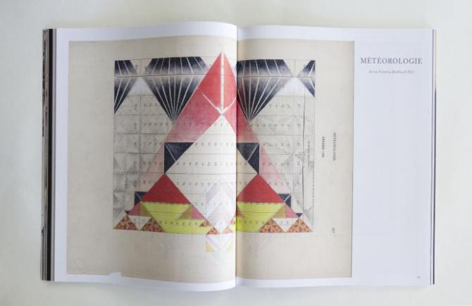 the interior of momma tried magazine features a page covered in an abstract design