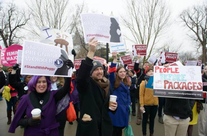 protesters rally in support of peggy young