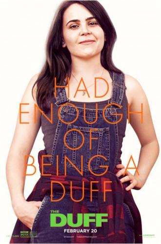 mae whitman in a movie poster for the duff
