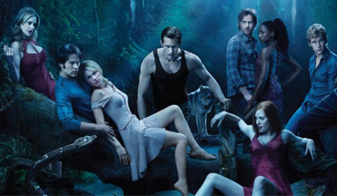 the entire cast of true blood in a spooky forest