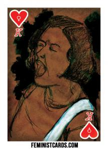 corin tucker playing card