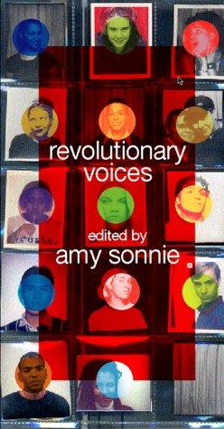 book cover for revolutionary voices.  multi-colored display of full face photos arranged in a grid