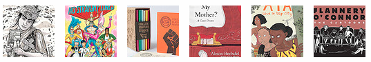 Thumbnails of the graphic novels in the gift guide