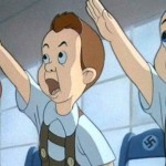 Disney cartoons using the Nazi sign