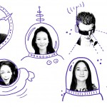 Five women from Mars One: Kenya Armbrister, Kellie Gerardi, Sue Ann Pien, Laura Smith-Velazquez, and Sabrina Surovec