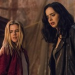 Rachael Taylor as Trish Walker and Krysten Ritter as Jessica Jones in Marvel's Jessica Jones