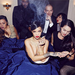 Rihanna smoking weed on Instagram