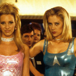 two white, blond women show up to prom in Romy and Michele's High School Reunion