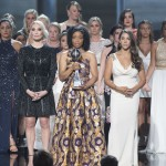 Larry Nassar survivors receiveing the Arthur Ashe Courage Award at the ESPYs