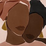 abstracted illustration of two Black women's heads side-by-side