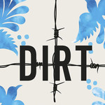 "Cropped image of the cover for ""American Dirt"", barbed wire runs across a white cover"
