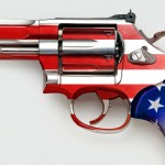 American flag on gun