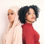 Two Muslim sisters who are best friends, look confident and embrace their individuality using their personal styles
