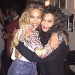 Beyoncé and Tina Lawson hugging