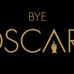 a black graphic that includes Bye Oscars with the statue turned into a middle finger