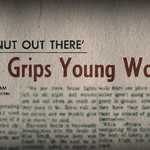 "A news headline about Ted Bundy reading, ""Fear grips young women"""