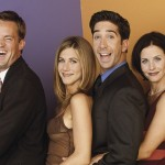 Lisa Kudrow as Phoebe, Matthew Perry as Chandler, Jennifer Aniston as Rachel, David Schwimmer as Ross, Courteney Cox as Monica, and Matt LeBlanc as Joey in Friends