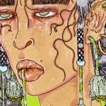 Panteha Abareshi illustration about women taking control of chronic illness narratives