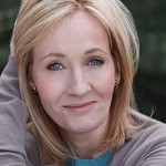 A portrait of author J.K. Rowling smiling