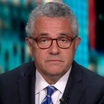 Jeffrey Toobin, a white man with short mixed salt-and-pepper hair and glasses, appears as a panelist on CNN