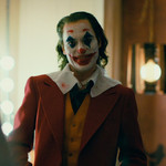 Joaquin Phoenix dressed as the Joker