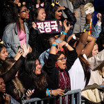 fans cheer as K-Pop group BTS performs in Central Park