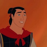 "A still shot of Li Shang in uniform from Disney's ""Mulan"" animated movie"