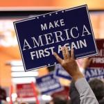 Make America First Again sign