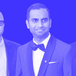 thumbnail image of Louis C.K., Aziz Ansari, and James Franco on a blue background