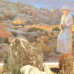 Minerva Hoyt Mural at the Oasis Visitor Center in Joshua Tree National Park