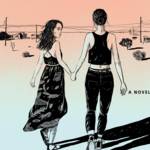 The cover of Orpheus Girl by Brynne Rebele Henry, which shows two girls holding hands and walking into the distance.