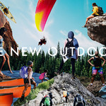 "collage image of various images of people in the outdoors with the words ""The New Outdoors"""
