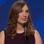 Sarah McBride at the 2016 Democratic National Convention