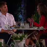A photo of Luke Parker, a white man, and Hannah Brown, a white woman, on The Bachelorette