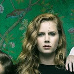Eliza Scanlen, Amy Adams, and Patricia Clarkson against green wallpaper