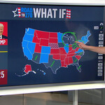 Steve Kornacki, a white man with short brown hair and glasses, stands in front of an electoral map on MSNBC