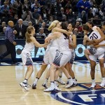 UConn Women's Basketball Team after Winning the 2016 NCAA Tournament