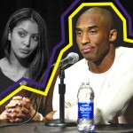 Vanessa Bryant and Kobe Bryant at a press conference in 2003 at the Staples Center in Los Angeles